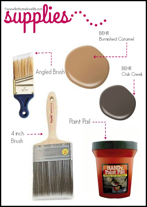 paint supplies used via firsthomelovelife.com
