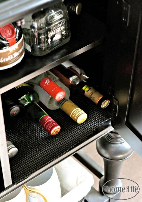 liquor cabinet storage via firsthomelovelife.com