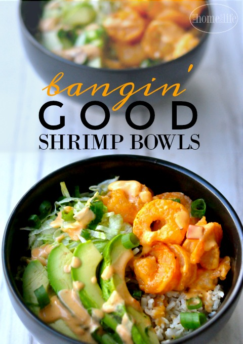 Bangin' good shrimp bowls. If you like Bonefish Grills bang bang shrimp than you will love this easy dinner idea! via firsthomelovelife.com