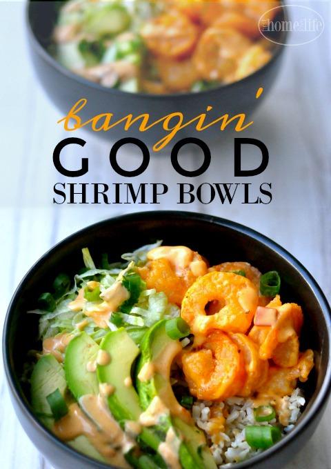 Bangin' good shrimp bowls. If you like Bonefish Grills bang bang shrimp than you will love this easy dinner idea! via firsthomelovelife.com
