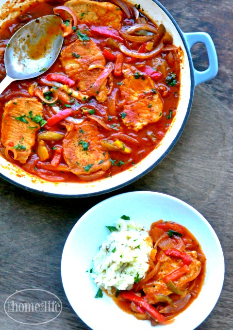 delicious pork chop recipe using one pot perfect for fall via www.firsthomelovelife.com
