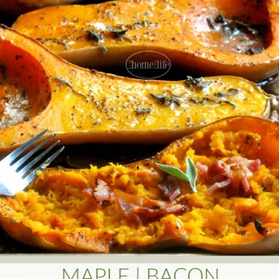 Maple Bacon Butternut Squash