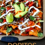 These Doritos Nachos are the perfect game day appetizer or a quick and easy meal! via firsthomelovelife.com