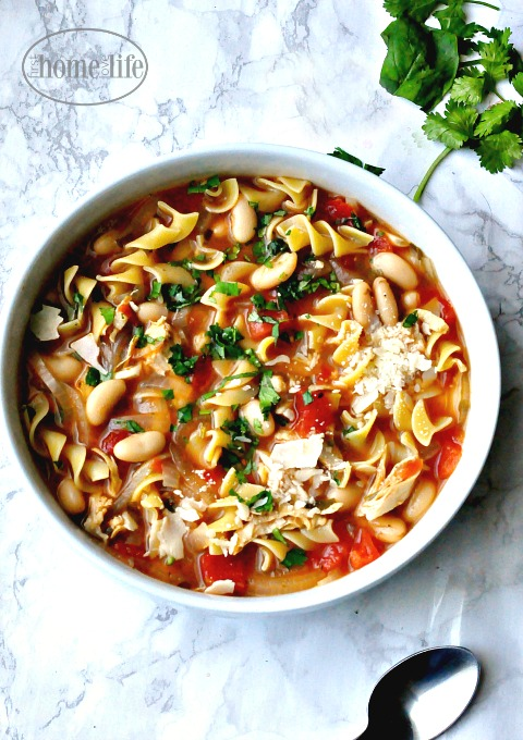 chicken-noodle-soup-with-tomatoes-via-firsthomelovelife-com