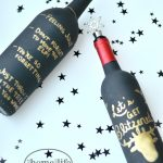 painted wine bottles - a great last minute DIY gift idea for the holidays via firsthomelovelife.com