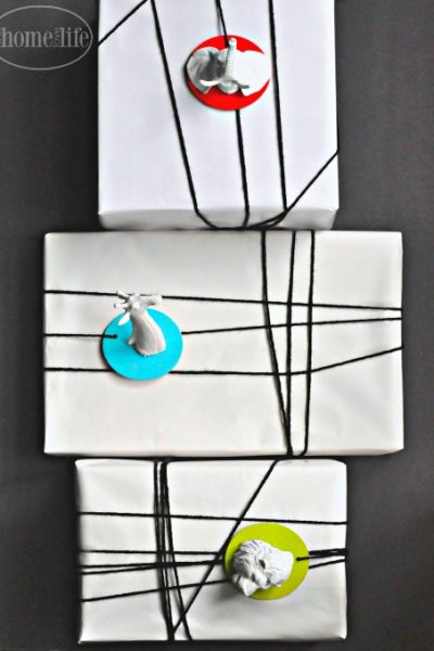 DIY faux taxidermy gift wrap tags for the holidays via firsthomelovelife.com