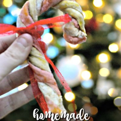 Homemade Candy Cane Dog Treats