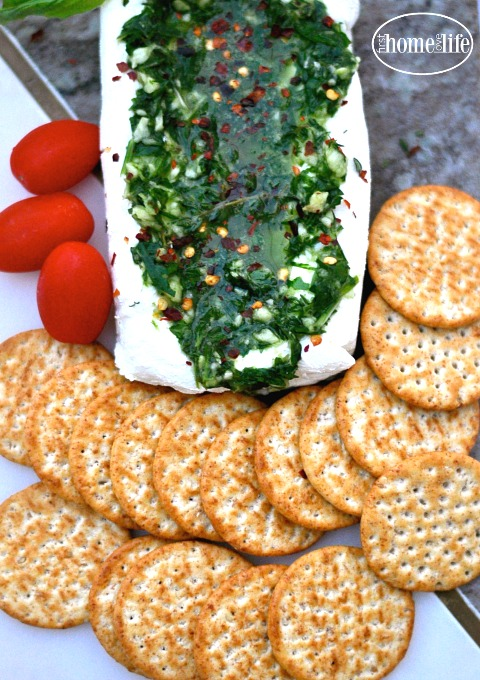 the easiest and best garlic and herb cheese spread you can make for any get together during the holidays or any celebration via firsthomelovelife.com