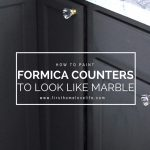 DIY inexpensive kitchen upgrade | how to paint formica counter tops to look like marble granite via firsthomelovelife.com