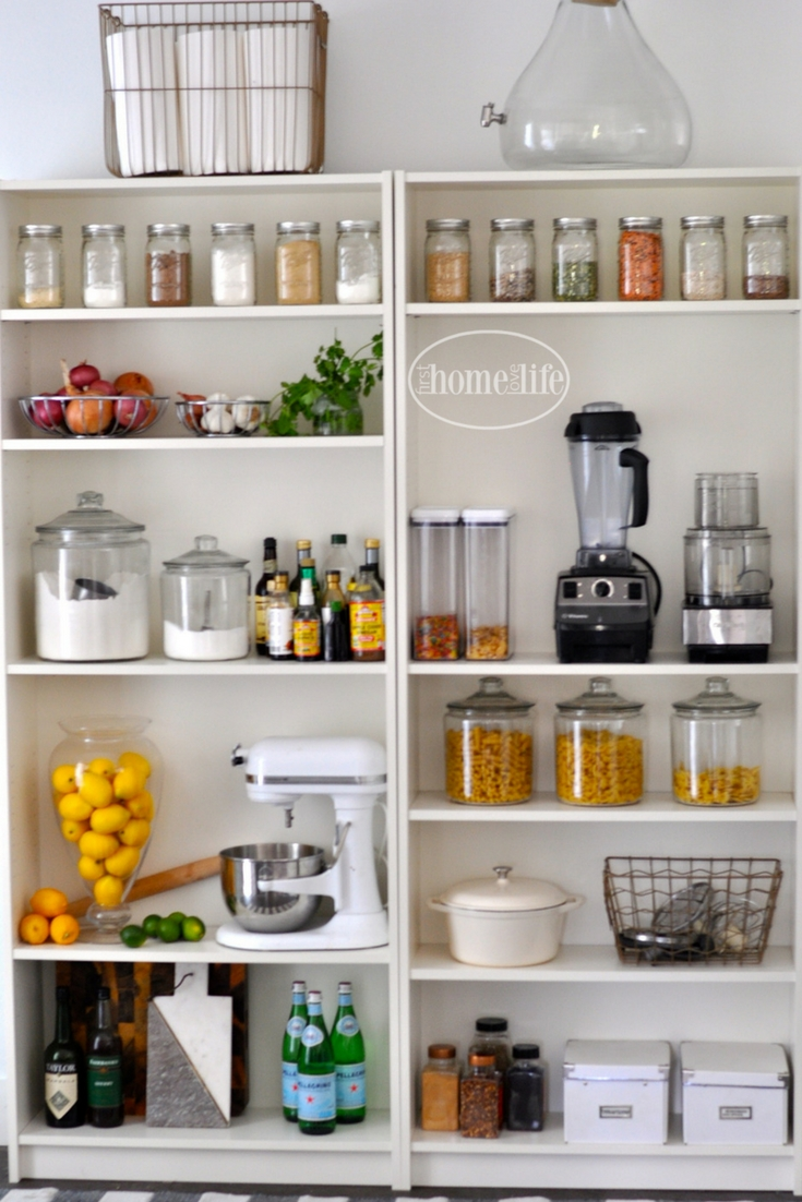 Open Pantry Using Bookshelves First Home Love Life