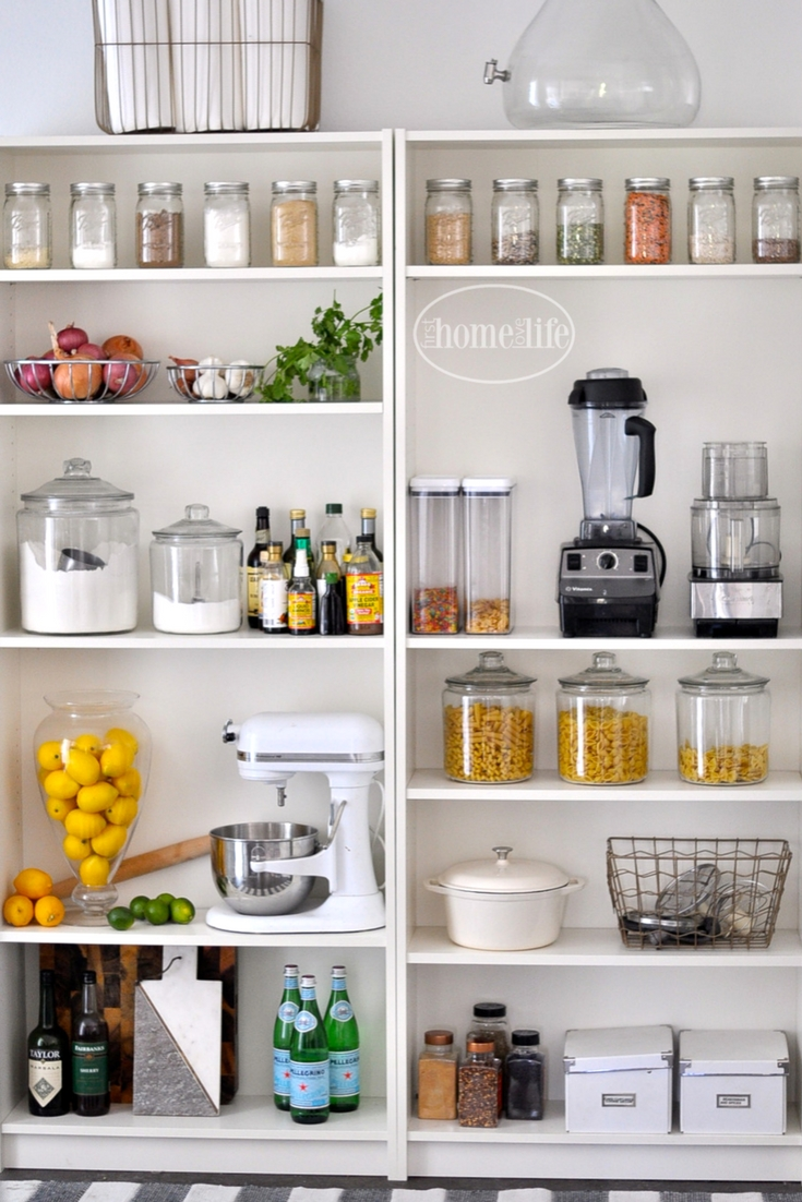 ikea kitchen storage ideas open pantry using bookshelves home 4569