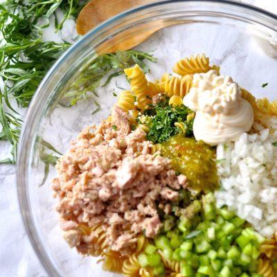 Tarragon Tuna Pasta Salad