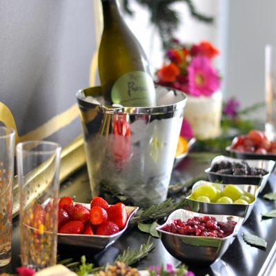 Holiday Entertaining Idea | Bubbly Bar
