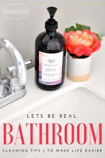 Real Life Bathroom Cleaning Hacks via firsthomelovelife.com