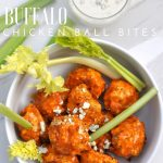 Chicken wings without the messy fingers! This BUFFALO CHICKEN BALL BITES are the perfect game day appetizer! via firsthomelovelife.com