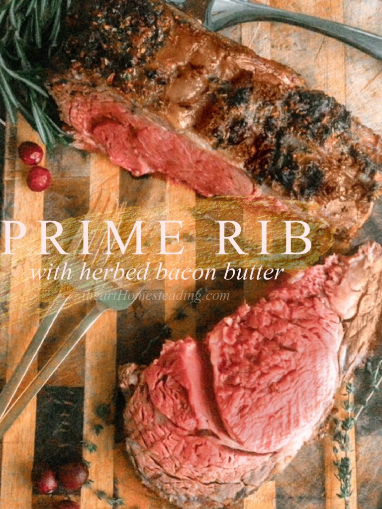 The best prime rib recipe | Bacon Butter Prime Rib with Herbs | Easy prime rib recipe