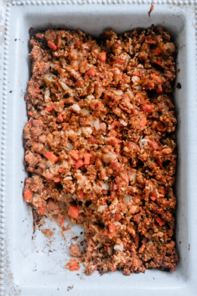 Chicken sausage and Apple stuffing Thanksgiving/Christmas side dish