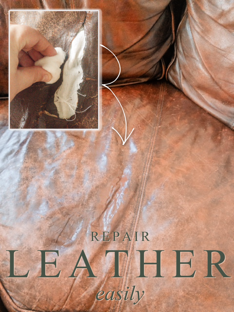 how to repair leather easily | repairing a leather couch